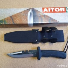 Militaria: CUCHILLO AITOR SHARK-TEC ACABADO MIXTO CAJA ORIGINAL. . Lote 187565947