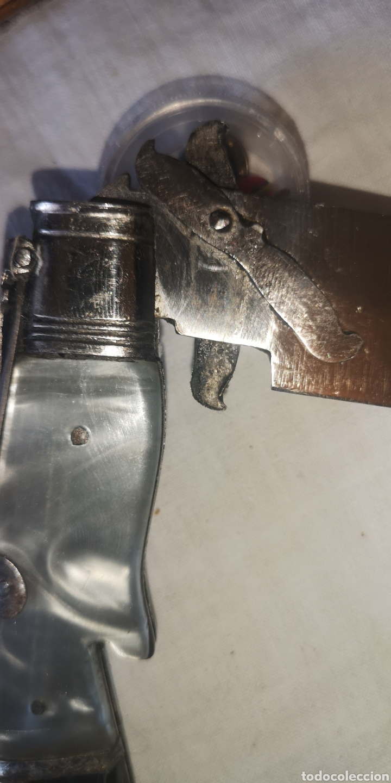 Militaria: Antiguo cuchillo navaja plegable albaceteña, empuñadura en forma de pata de ciervo - Foto 3 - 188625140