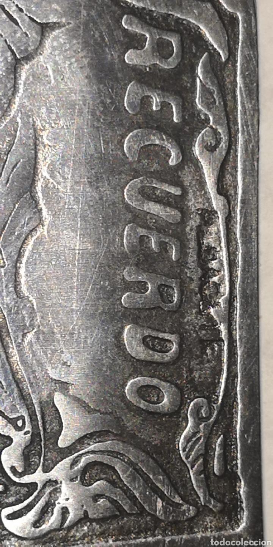 Militaria: Antigua navaja albaceteña grabada a dos caras, mango en asta - Foto 3 - 189547477
