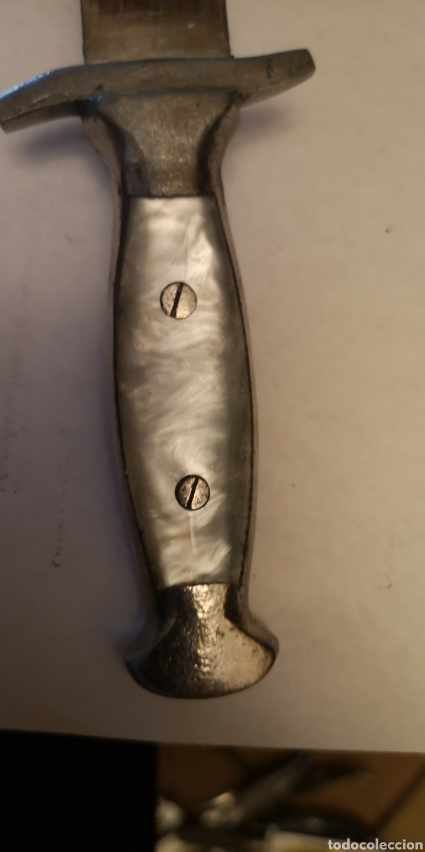 Militaria: Antigua hacha - cuchillo grabada albaceteña, grabados cinegéticos - Foto 7 - 190151333