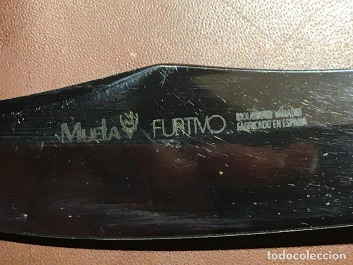 Militaria: cuchillo deportivo furtivo monte caza marca Muela artesania molibdeno vanadio. mide 21 cms - Foto 5 - 190472886