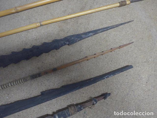 Militaria: Antiguo lote de 11 lanza etnica originales, de africa y amazonas. Originales. - Foto 3 - 190476765
