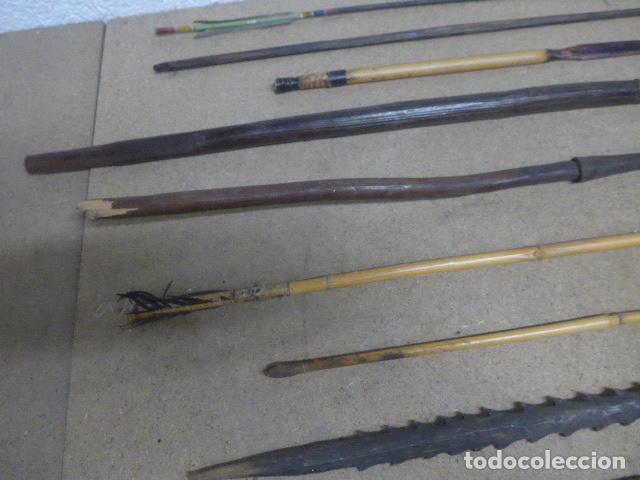 Militaria: Antiguo lote de 11 lanza etnica originales, de africa y amazonas. Originales. - Foto 6 - 190476765