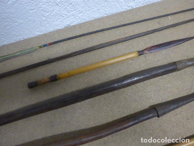 Militaria: Antiguo lote de 11 lanza etnica originales, de africa y amazonas. Originales. - Foto 8 - 190476765