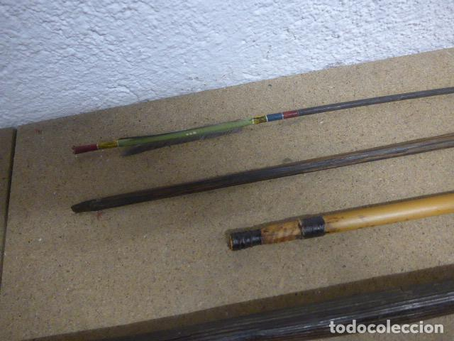 Militaria: Antiguo lote de 11 lanza etnica originales, de africa y amazonas. Originales. - Foto 9 - 190476765