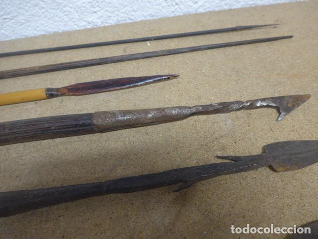 Militaria: Antiguo lote de 11 lanza etnica originales, de africa y amazonas. Originales. - Foto 13 - 190476765