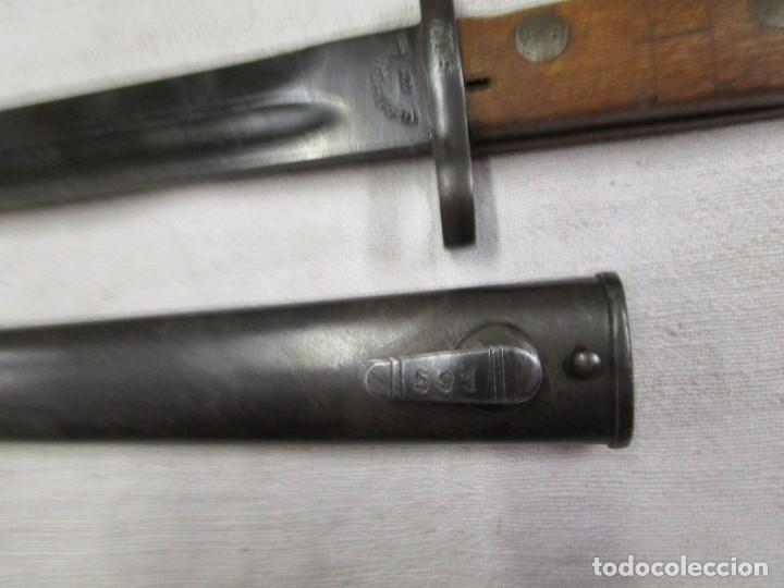 Militaria: BAYONETA YUGOESLAVA PARA MAUSER SEGUNDA GUERRA 1944, PAVONADA, EXCELENTE, VER FOTOS. + INFO - Foto 2 - 190773288