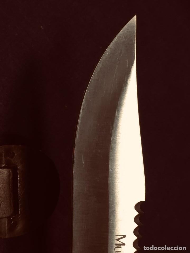 Militaria: puñal muela phillip bronkhorst SAFARIS FUNDA PLASTICO NEGRO TIPO SUBMARINISMO MUY POCO USO 30X5CMS - Foto 6 - 191134125