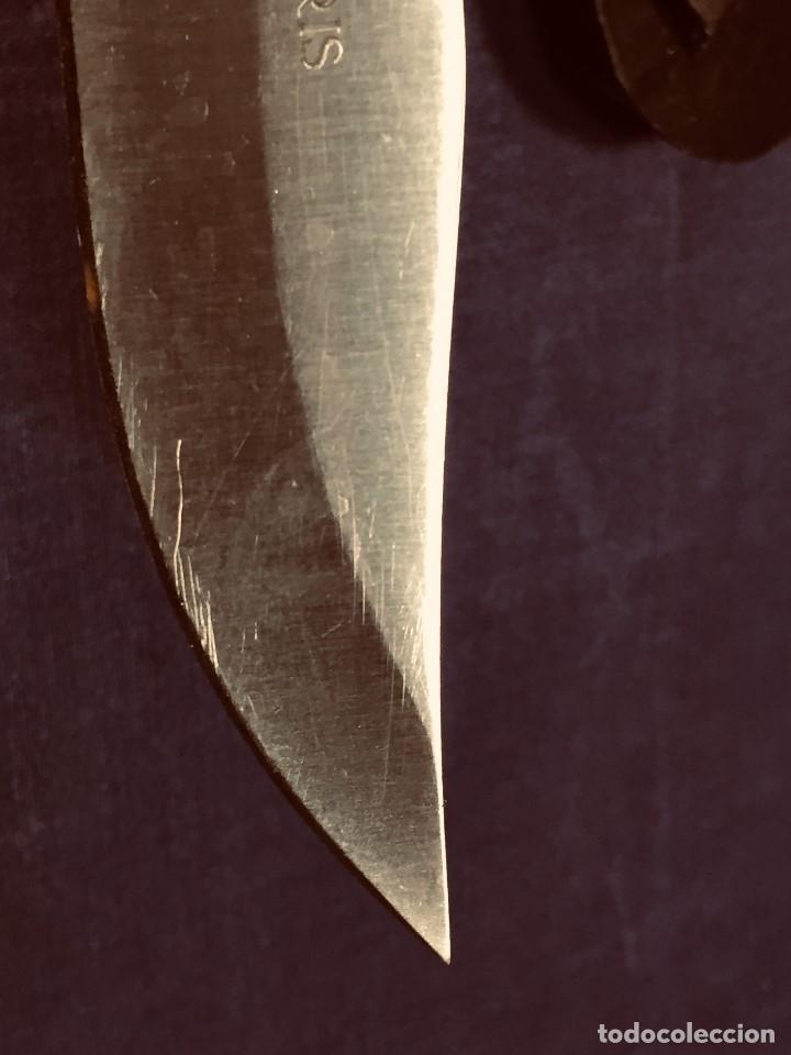 Militaria: puñal muela phillip bronkhorst SAFARIS FUNDA PLASTICO NEGRO TIPO SUBMARINISMO MUY POCO USO 30X5CMS - Foto 8 - 191134125