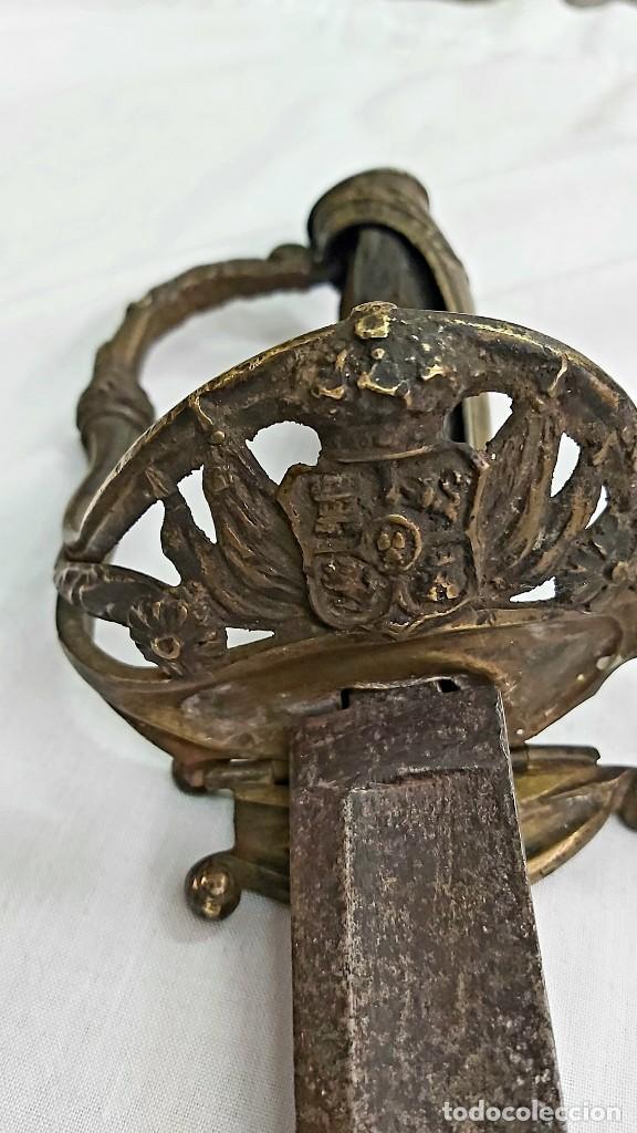 SABLE ESPAÑOL DE OFICIAL. EPOCA ISABELINA. CIRCA 1850 (Militar - Armas Blancas Originales Fabricadas entre 1851 y 1945)