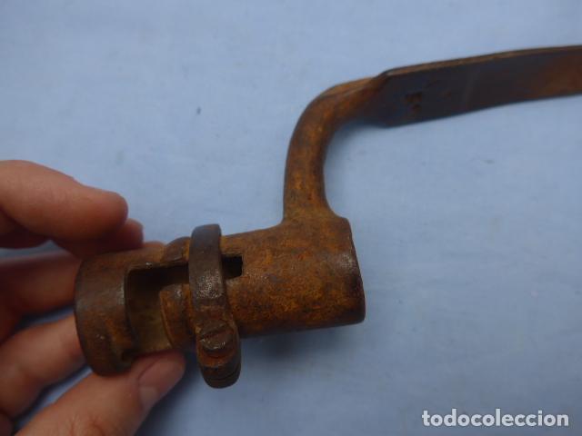Militaria: * Antigua bayoneta de cubo con marcajes, guerra carlista de siglo XIX, original. ZX - Foto 10 - 193863020