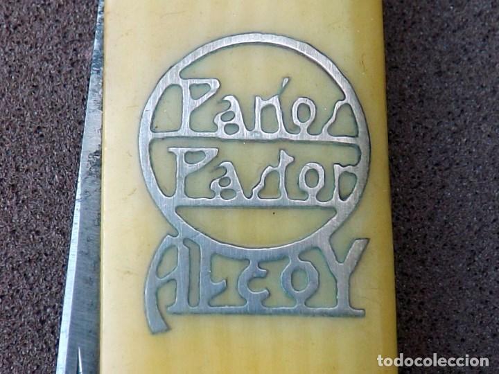 Militaria: ANTIGUA NAVAJA DOBLE CON PUBLICIDAD DE PAÑOS PASTOR, ALCOY - Foto 6 - 194350350
