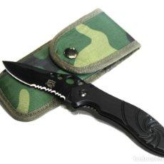 Militaria: NAVAJA ENFORCER CON FUNDA HOJA SEMIDENTADA DE 8,5 CMS APROX CLIP CINTURON ALTA CALIDAD. Lote 194711518