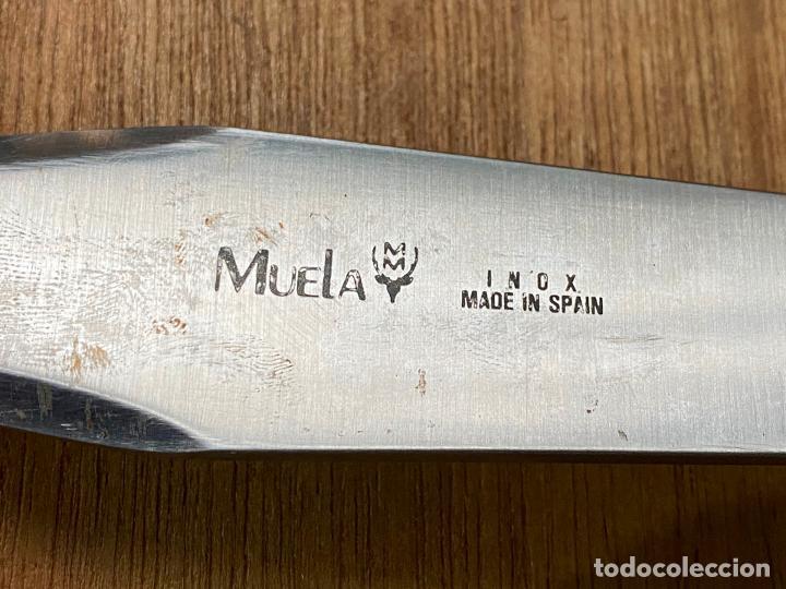 Militaria: Cuchillo de lanzar muela con su funda original - Muela - Foto 5 - 194896747