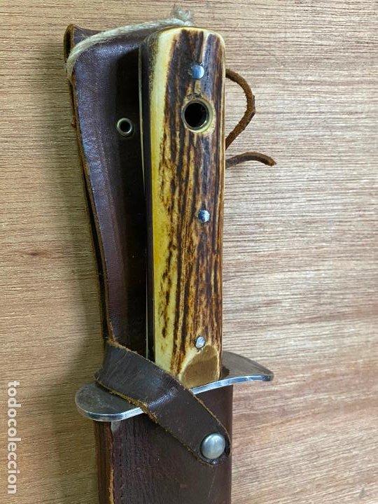 Militaria: Muela Bowie nuevo a estrenar, cachas asta de ciervo, 26 cm de hoja, 40 cm de largo - Foto 3 - 194897356