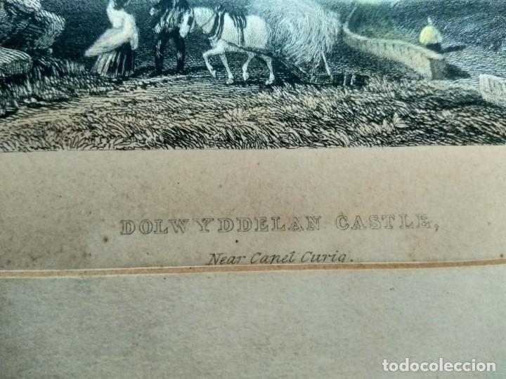GRABADO W. RADCLYFFE, DOLWYDDELAN CASTLE (Militar - Armas Blancas, Reproducciones y Piezas Decorativas)