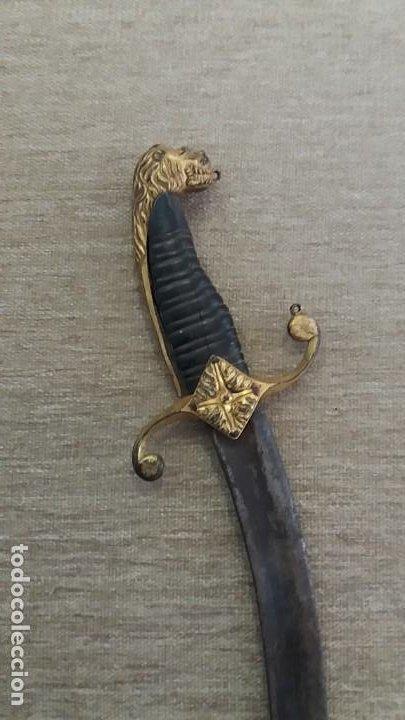DIFÌCIL DAGA DE OFICIAL NAPOLEÓNICA S, XVIII - XIX CUCHILLO PUÑAL LEER DATOS 51 CM (Militar - Armas Blancas Originales de Fabricación Anterior a 1850)