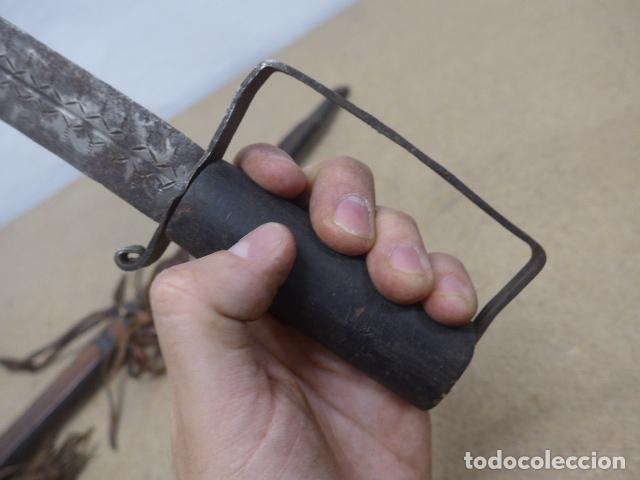 Militaria: Antiguo gran cuchillo espada africano original, de ghana o lobi de burkina faso. Africa. - Foto 6 - 205203582