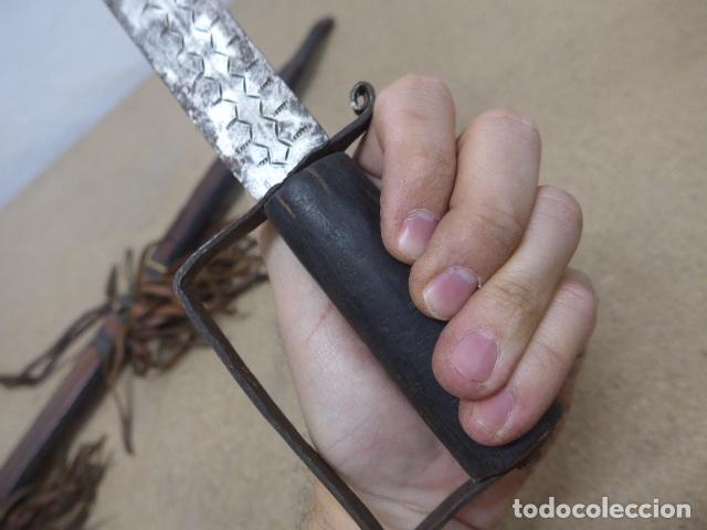 Militaria: Antiguo gran cuchillo espada africano original, de ghana o lobi de burkina faso. Africa. - Foto 8 - 205203582