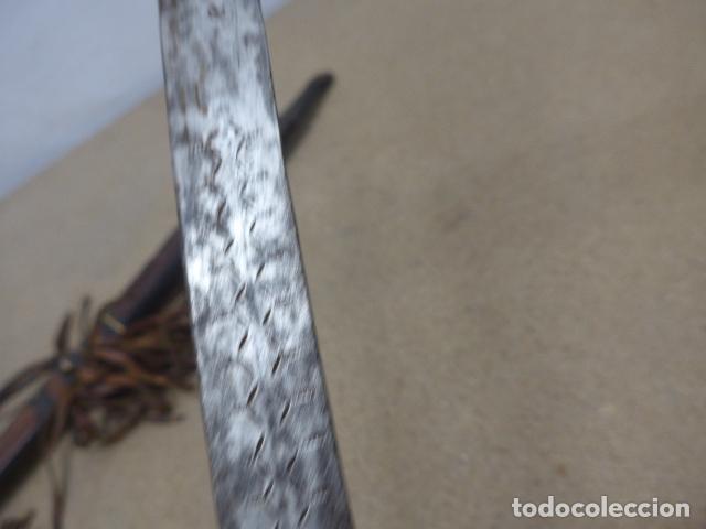 Militaria: Antiguo gran cuchillo espada africano original, de ghana o lobi de burkina faso. Africa. - Foto 9 - 205203582