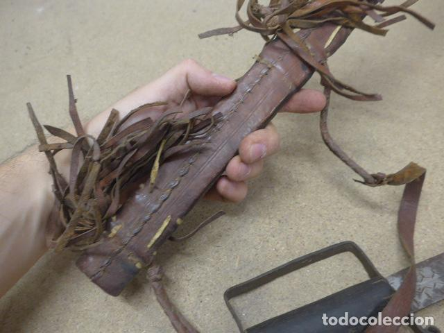 Militaria: Antiguo gran cuchillo espada africano original, de ghana o lobi de burkina faso. Africa. - Foto 15 - 205203582