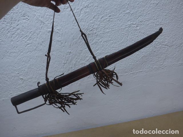 Militaria: Antiguo gran cuchillo espada africano original, de ghana o lobi de burkina faso. Africa. - Foto 17 - 205203582