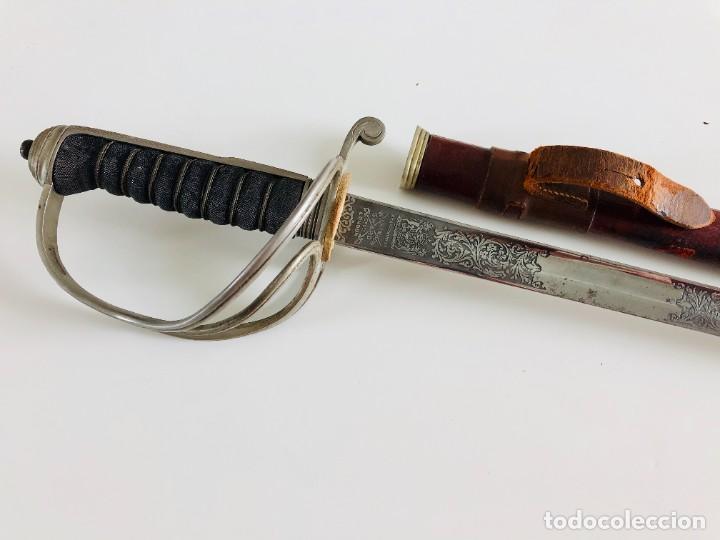 Militaria: Espada de caballería oficial británica sudafricana única modelo 1821, Wilkinson, Londres - Foto 44 - 206827521