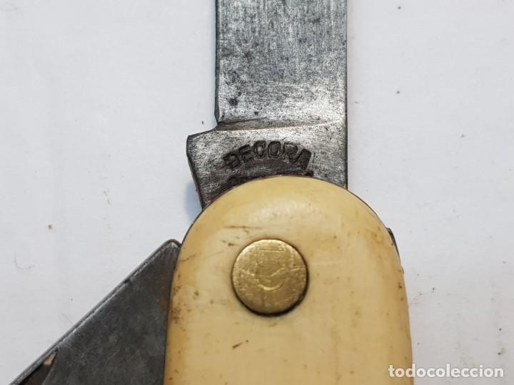 Militaria: Navaja antigua Decora Solingen Germany cachas Hueso escasa - Foto 4 - 258321225
