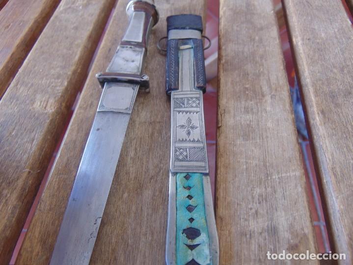 Militaria: ANTIGUO CUCHILLO ABRECARTAS O SIMILAR CON BONITOS GRABADOS ,METAL MADERA Y CUERO - Foto 16 - 209197747