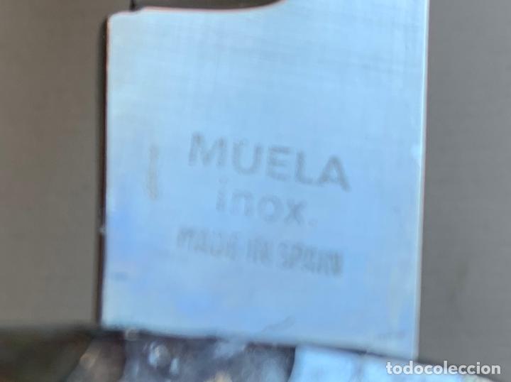 Militaria: MACHETE MARCA MUELA . INOX . FUNDA METALICA . CACHAS DE ASTA . - Foto 5 - 212282945