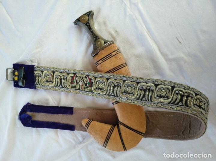 JAMBIYA. DAGA DE YEMEN. PRINCIPIOS SIGLO XX (Militar - Armas Blancas Originales Fabricadas entre 1851 y 1945)