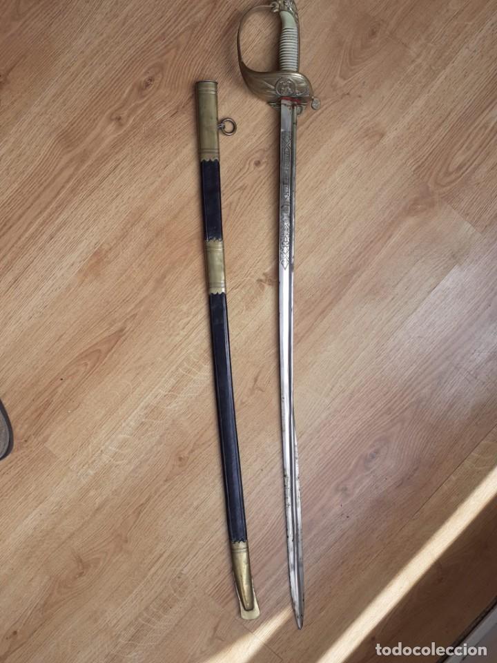 ARMADA ESPAÑOLA ANTIGUO SABLE DE OFICIAL (Militar - Armas Blancas Originales Fabricadas entre 1851 y 1945)