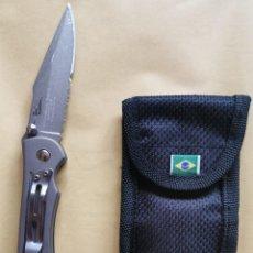 Militaria: NAVAJA NTK CON FUNDA BRASIL. Lote 218667528