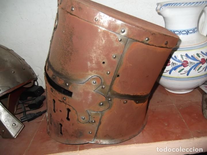 Militaria: YELMO CERRADO GRAN YELMO - Foto 3 - 219827586