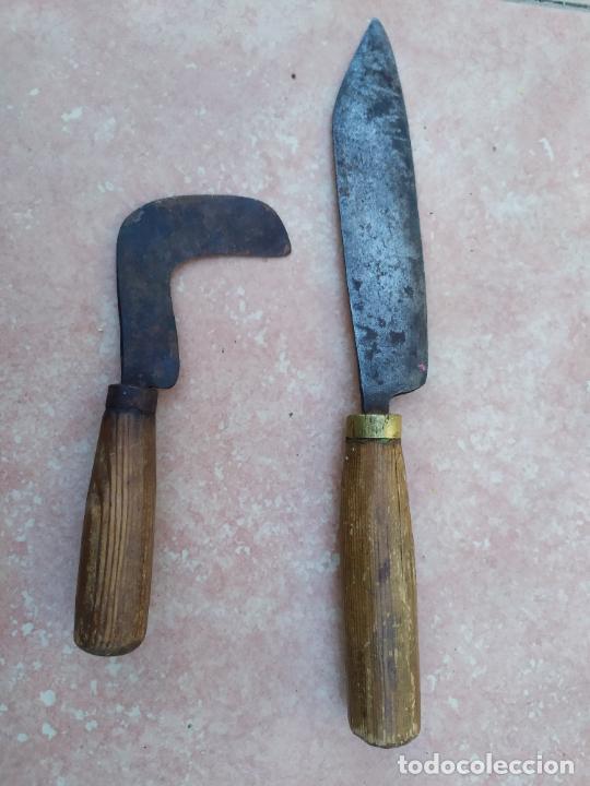 Militaria: Antiguos cuchillos camperos - Foto 2 - 221513525