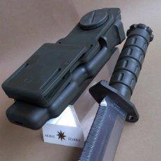 Militaria: CUCHILLO DE COMBATE P9010, PHROBIS-MARTO, ACABADO VERDE OLIVA. Lote 221608595