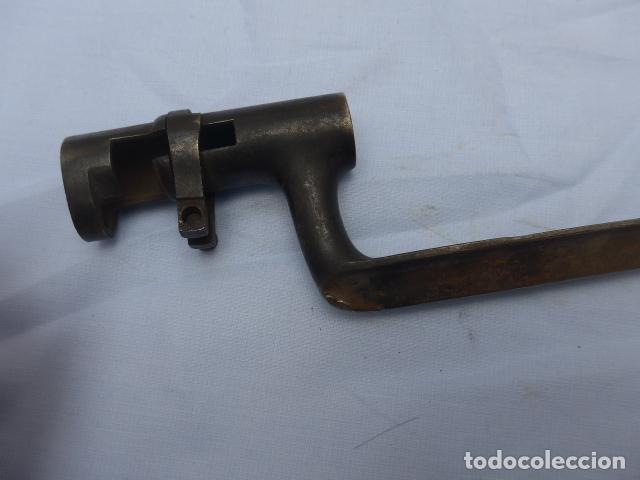 Militaria: * Antigua bayoneta de cubo rara, remington americana larga, estados unidos, original. ZX - Foto 11 - 222077196