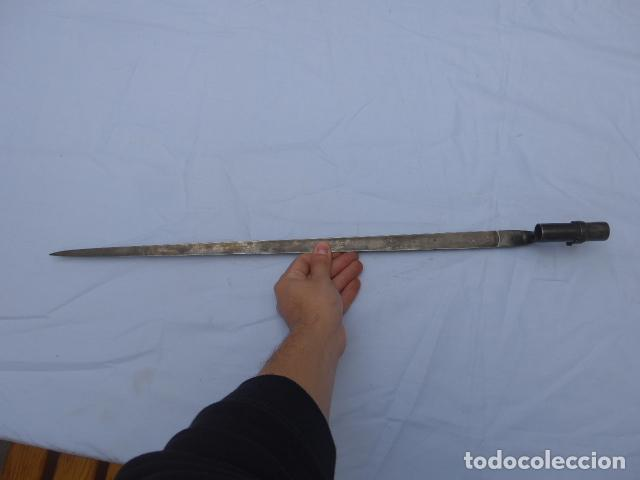 Militaria: * Antigua bayoneta de cubo rara, remington americana larga, estados unidos, original. ZX - Foto 16 - 222077196