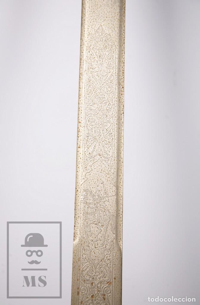 Militaria: Espada Decorativa - Réplica de Espada Colada del Cid - Toledo - Longitud 101 cm - Años 70-80 - Foto 3 - 223932711