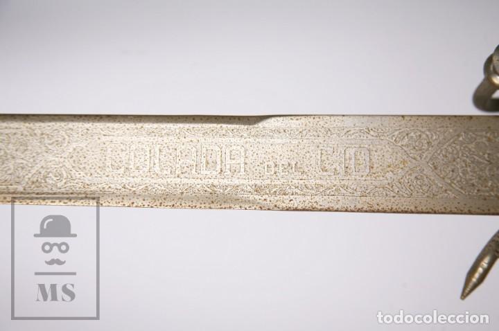Militaria: Espada Decorativa - Réplica de Espada Colada del Cid - Toledo - Longitud 101 cm - Años 70-80 - Foto 4 - 223932711