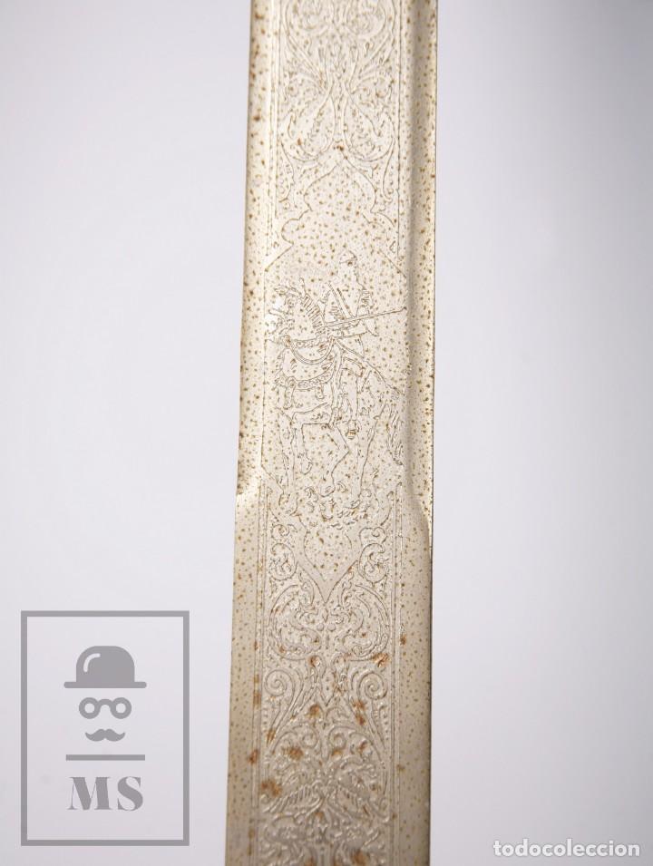 Militaria: Espada Decorativa - Réplica de Espada Colada del Cid - Toledo - Longitud 101 cm - Años 70-80 - Foto 5 - 223932711