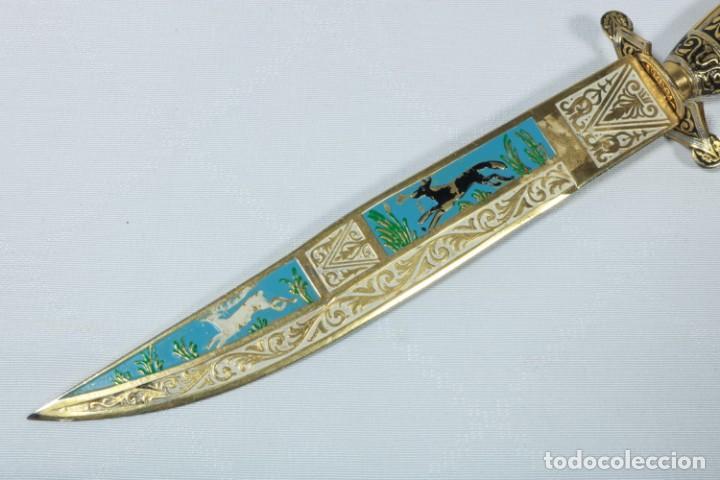Militaria: Precioso cuchillo suizo con decoración de los alpes en la cuchilla - Foto 5 - 225291230