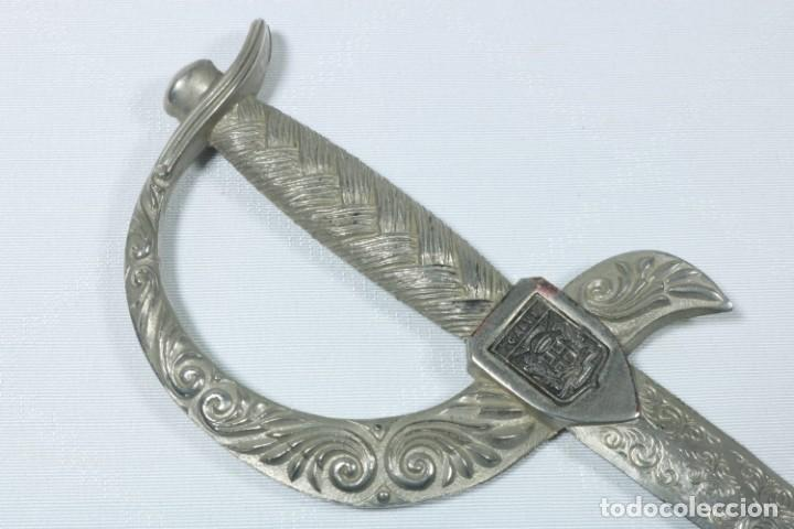 Militaria: Antiguos cuchillos franceses decorados con el escudo de ciudades francesas - Dijon, Calvi... - Foto 5 - 225311700