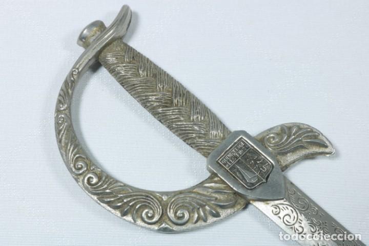 Militaria: Antiguos cuchillos franceses decorados con el escudo de ciudades francesas - Dijon, Calvi... - Foto 7 - 225311700