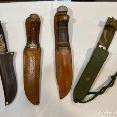 Militaria: LOTE 4 MACHETES DE MONTAÑA CON SU FUNDA PROTECTORA (G). Lote 226487415