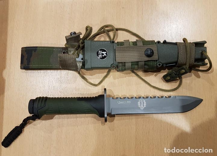CUCHILLO THUNDER II CAMO VERDE (Militar - Armas Blancas Originales de Fabricación Posterior a 1945)