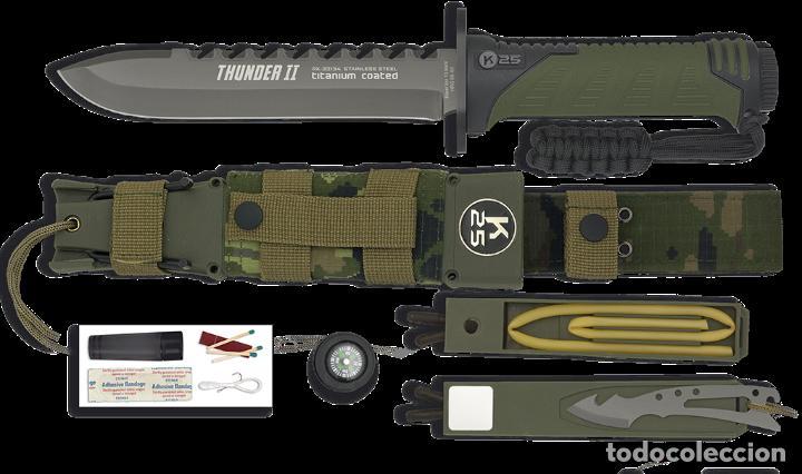 Militaria: CUCHILLO THUNDER II CAMO VERDE - Foto 2 - 230950545