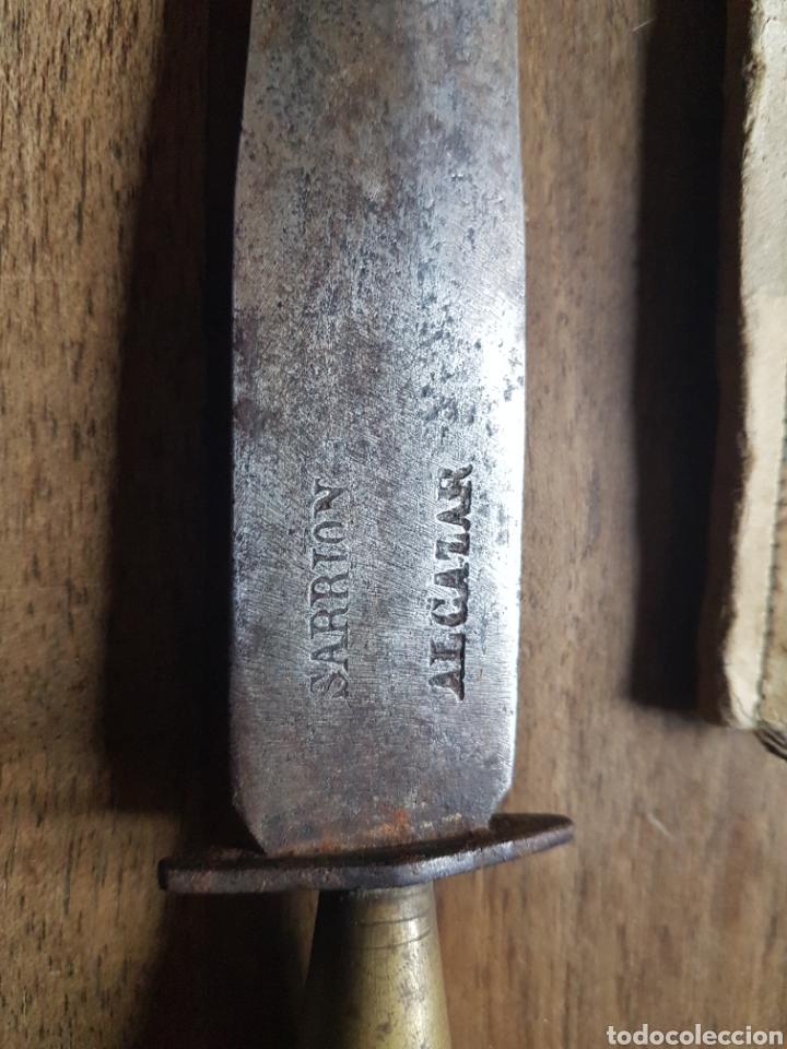 Militaria: Antiguo puñal Cuchillo de taco sarrion Alcazar de San Juan - Foto 4 - 243644950