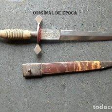 Militaria: (JX-210102)PUÑAL,DAGA,REALIZADA EN TOLEDO,MANGO DE MADERA CON ALAMBRE.. Lote 232918125