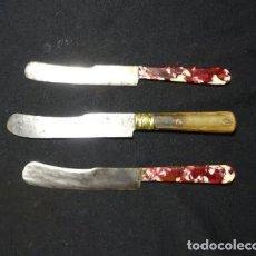 Militaria: TRES CUCHILLOS DE ALBACETE ACERO AL CARBONO, AÑOS 1940-60. Lote 234669530